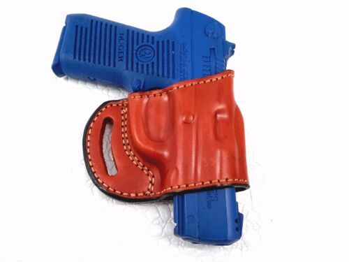 OWB Yaqui Slide Style Right Hand Leather Holster Fits RUGER KP95PR15 9MM Pistol
