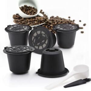 5-Pcs-Stainless-Steel-Filter-Reusable-Coffee-Capsules-Pods-amp-Spoon-For-Nespresso