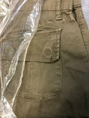 NSF Clothing Mazzy Pant Khaki  GREEN  Slouchy twill cargo Utilitarian button fly