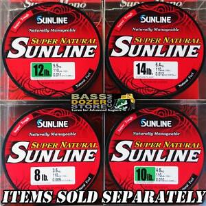 Sunline-SUPER-NATURAL-GREEN-monofilament-fishing-line-110yd-spool