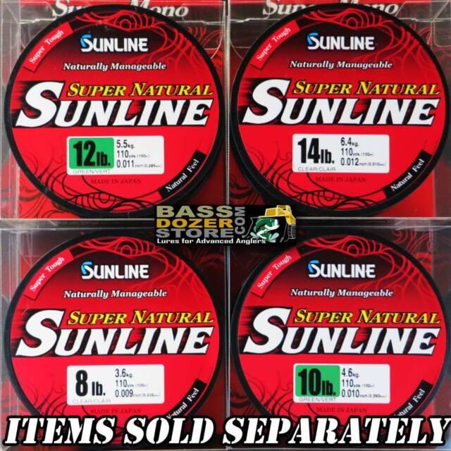 Sunline SUPER NATURAL GREEN monofilament fishing line. 110yd spool.