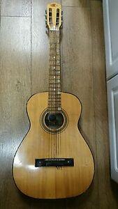 Charmant Utilisé Morena Musical New Style No.102 Acier Renforcé Cou 6 Cordes Guitare.-afficher Le Titre D'origine éLéGant En Odeur