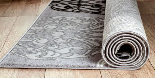 area rug Smt#45 Light and dark gray soft pile size options 2x3 3x5 5x7 8x11