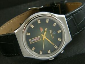 DAY/DATE @ 6 VINTAGE RICOH R31 AUTOMATIC JAPAN MENS WATCH 365c-a180872-9