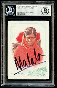 Malala Yousafzai #341 signed autograph 2015 Topps Allen & Ginter Card BAS Slab