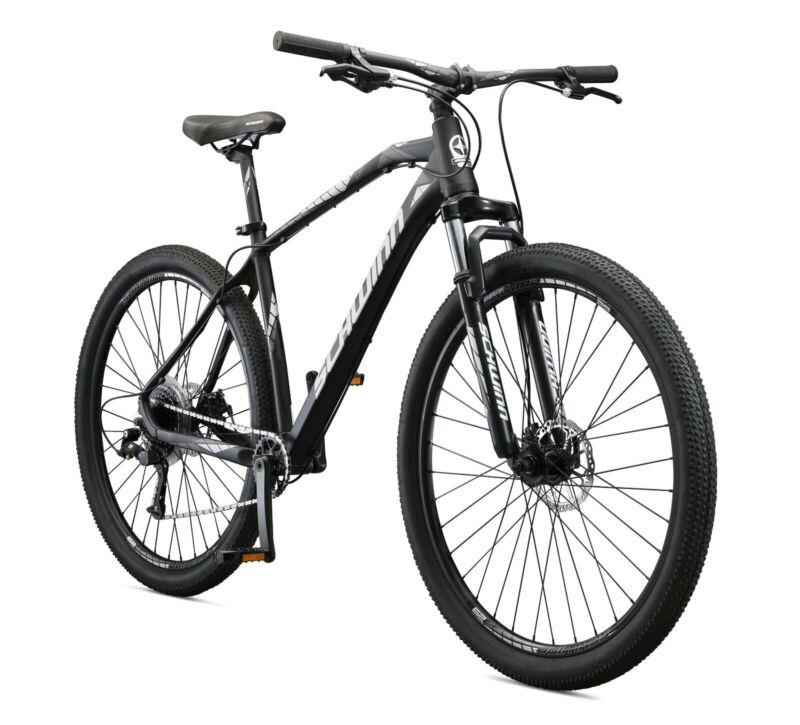 Schwinn Taff Mountain Bike, 29-Inch Wheels, 8 Speeds, Black / White (1x8)