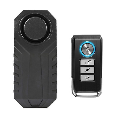 113dB Wireless Anti-Theft Vibration Motorcycle Bicycle Waterproof Security Alarm