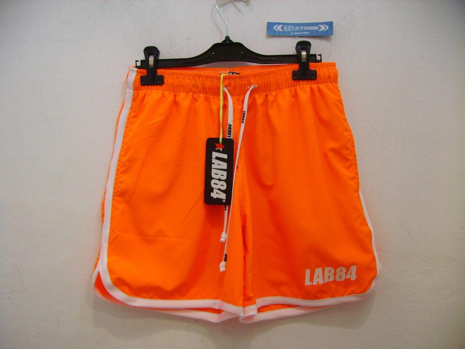 LAB84 SHORTS HERREN SHM1004BASIC SURF TASCHE KURZ Orange 4072 Orange S