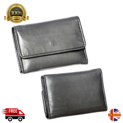 Mens Luxury Soft Quality Leather Wallet Credit Card Holder Purse Black UK New