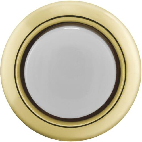 1 Each IQ America Wired Gold Round Lighted Doorbell Push-Button DP-1101A