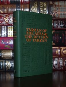 Tarzan-of-the-Apes-amp-The-Return-Burroughs-Unabridged-Deluxe-Soft-Leather-Feel-Ed
