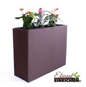 pflanzkubel polyrattan, pflanztrog blumentrog pflanzkübel polyrattan als raumteiler, Design ideen