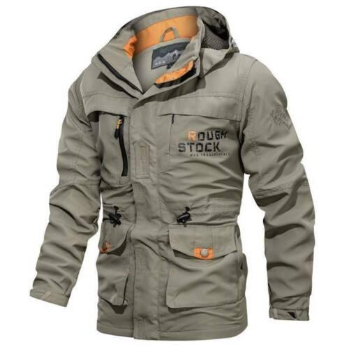 Men/'s Winter Waterproof Tactical Jacket  Hooded Breathable Outdoor Military Coat
