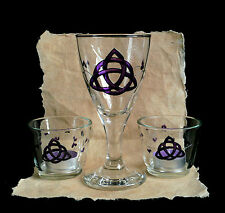 Chalice & Candle Holder  Wicca Pagan Altar Triquetra Hand-fasting Gift