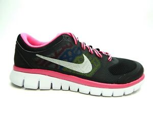 Details about NIKE FLEX 2015 RUNNING YOUTH SHOES SIZE 5.0 TO 7.0 BLACK PINK WHITE 724992 006