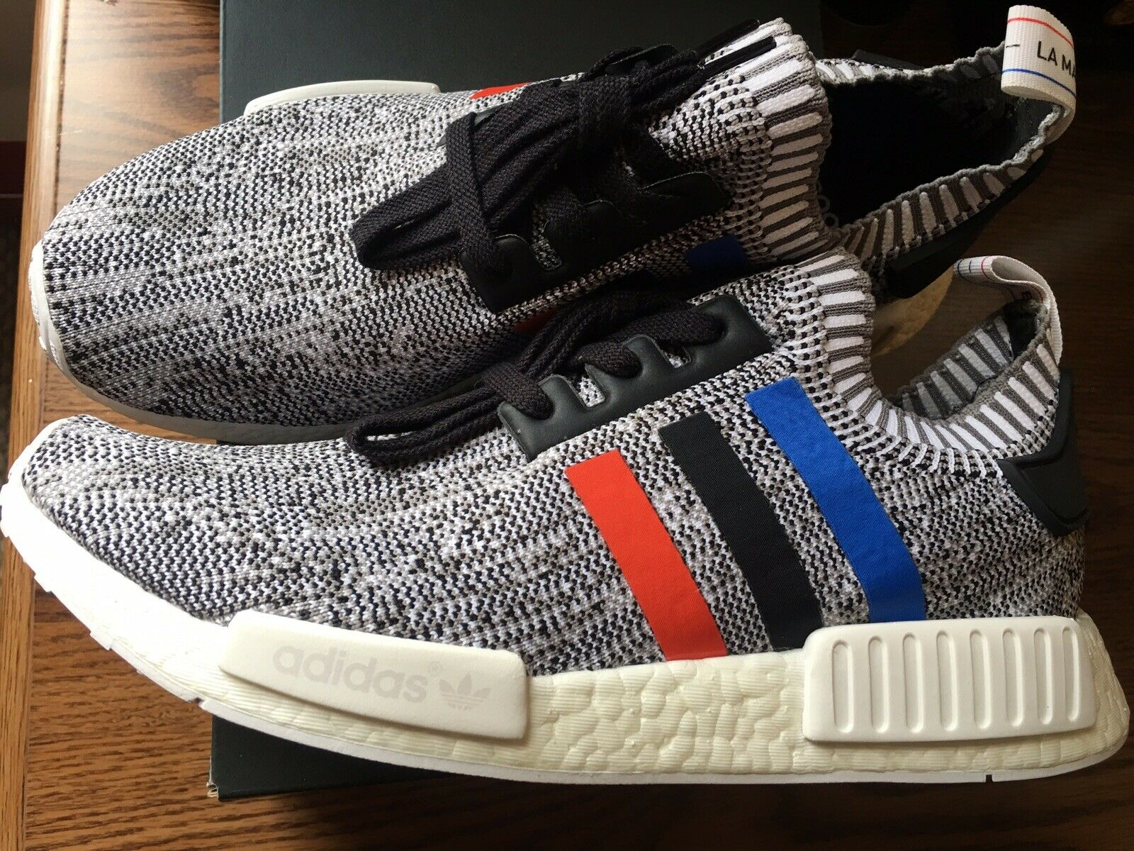 ADIDAS NMD_R1 PK SNEAKERS, SIZE 10.5 USA, Pre-owned