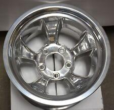 Set of 2 Polished Aluminum 15 x 10 Wheels 5 x 5 Lug Pattern street rod