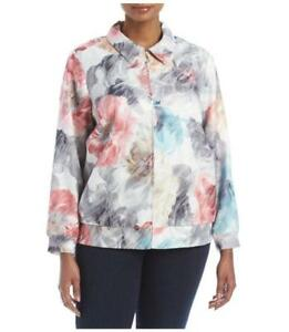 ab1ede44bc981 ALFRED DUNNER® Plus Size 24W Lakeshore Drive Floral Bomber Jacket ...