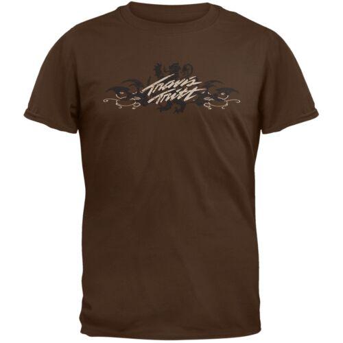 Tattoo Logo Lion 2009 Tour Adult Mens T-Shirt Travis Tritt