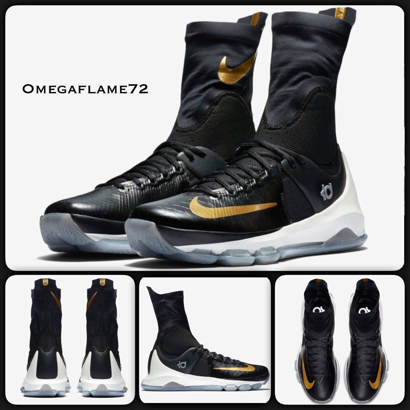 Nike kd 8 nero & oro 834185 071 elite dimensioni uniti 12,5 | Impeccabile  | Scolaro/Ragazze Scarpa