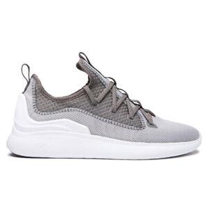 Supra-034-Factor-034-Shoes-Light-Grey-Grey-White-Men-039-s-Skate-Shoe-Sneakers