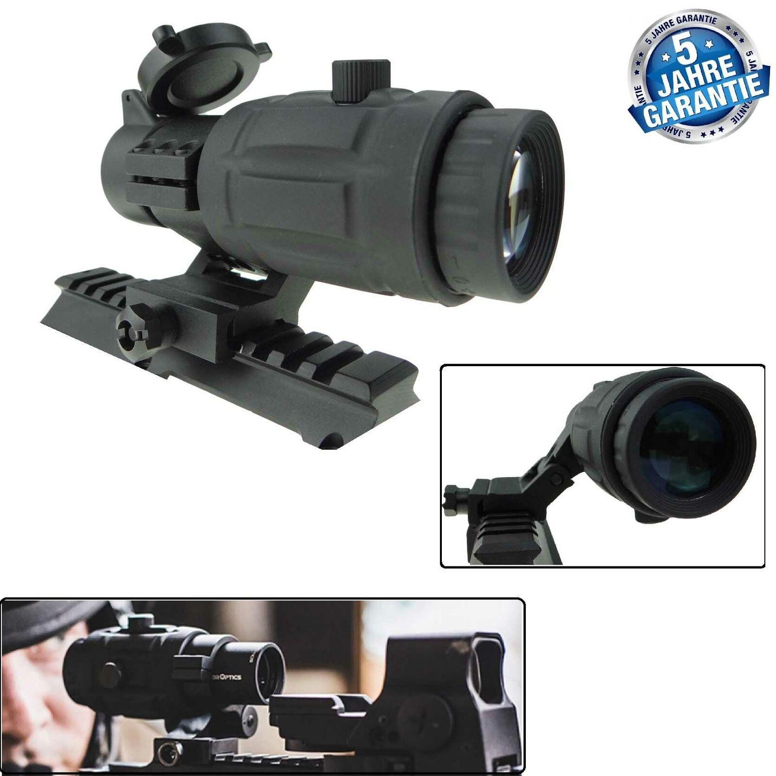 5 veces Magnifier agrandamiento módulo para reflex visera o rojo-Dot vector Optics