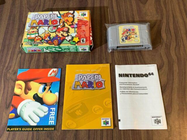Paper Mario 64 (Nintendo 64, N64) Authentic -- Complete in Box -- Box has wear