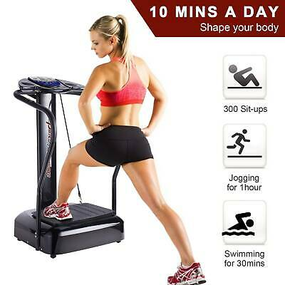 DD-upstep Vibration Plate Exercise Machine Remote【US Shipment】 Whole Body Workout Vibration Fitness Platform Workout Trainer with LCD Screen Bluetooth