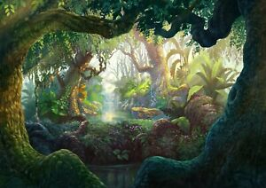 Amazing-Magical-Forest-Poster-Size-A4-A3-Fantasy-Nature-Art-Poster-Gift-12398