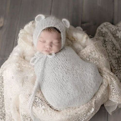 Pro Newborn Photography Props Infant Costume Outfit Baby Knit Mohair Photo Props
