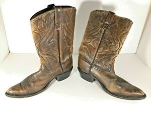 Vintage-ACME-Cowboy-Boots-Mens-Size-8-D-Brown-Leather-Western-USA-Made