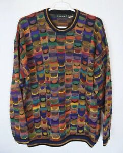 Tundra-Colorful-Cotton-Sweater-Biggie-Cosby-Style-Men-s-Size-XLT