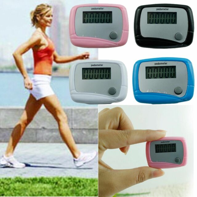 LCD PEDOMETER STEP CALORIE COUNTER HIKING WALKING JOGGING RUNNING DISTANCE Newly