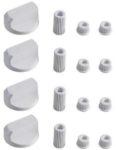 Nouvelle marque universelle INDESIT cuisinière four et plaque de cuisson Bouton de blanc et adaptateurs