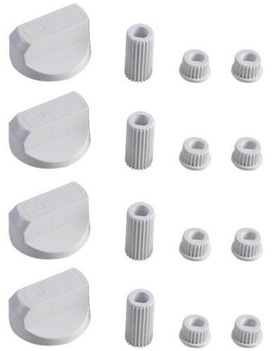 4 Universal Electrolux Herd Backofen Kochfeld Drehknöpfe Weiß