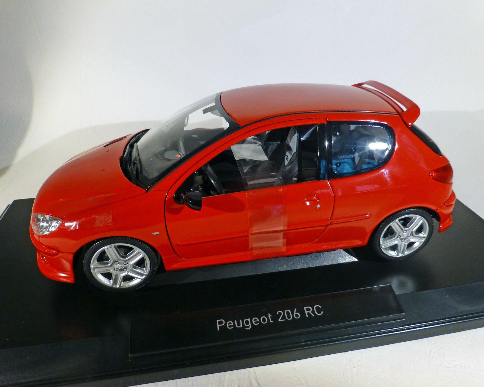 Peugeot 206 RC 2003, rot, NOREV 1 18    Smart