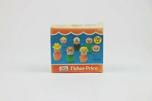 Vintage-Fisher-Price-663-1981-Play-Family-Little-People-w-Original-Box-Family