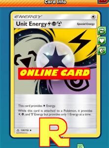 SM 4x - for Pokemon TCG Online Rainbow Energy Playset ptcgo in Game Card
