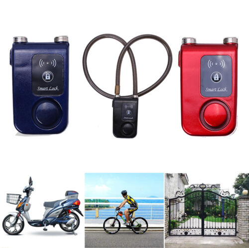 Bluetooth Smart Lock Bicycle Bike Alarm Chain Keyless Door Phone APP Anti Theft