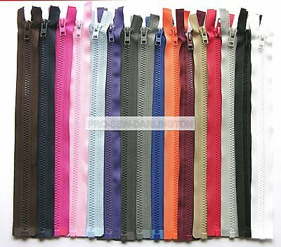 CHEAPEST ON  Chunky Open Ended NYLON Zip  size from 12 inch to 30 inch