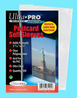 100 Ultra Pro Postcard Soft Sleeves 1 Pack Archival Safe Protective Coin Stamp