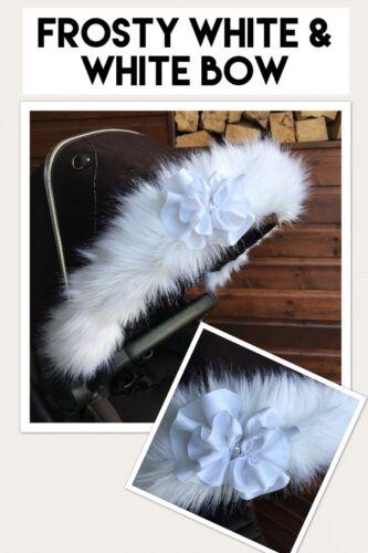 voyage Fur Hood trim Mothercare Orb Spin CAPUCHE en FOURRURE landau poussette