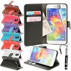 Pour Samsung Galaxy S5 Étui En Cuir Porte-feuille Carte De Crédit Rabattable