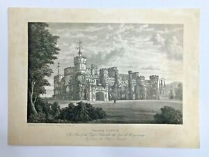 1835-Antique-Engraving-ERIDGE-CASTLE-Sussex-From-a-Painting-by-Thomas-Henwood