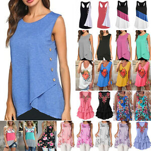 Womens-Summer-Sleeveless-Tunic-Tank-Top-Casual-Blouse-Vest-T-Shirt-Tee-Plus-Size