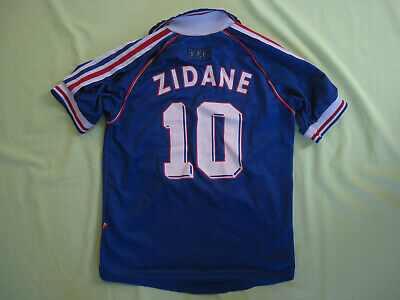 Maillot Equipe de France Mondial 1998 Vintage Jersey Adidas Enfant 10 12 ans | eBay