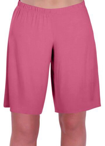 Damen Jersey Entspannt Komfort Elastisch Flexi Strecken Kurze Hose Plus GroBen