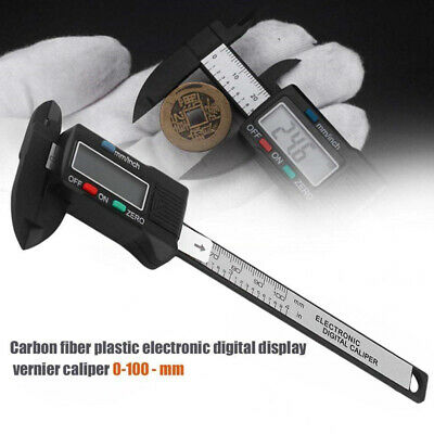 100mm 4/'/'LCD Electronic Plastic Digital Vernier Gauge Caliper Measure Micrometer