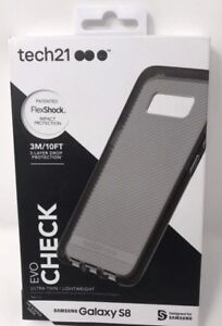 low priced fc1ba b3117 Details about Tech21 Evo Check Flex Shock Slim Case For Samsung Galaxy S8 -  Black New in Box