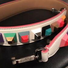 "09dad4245066 FENDI ""STRAP YOU"" White Multicolored Studded Shoulder Purse Strap  Brand New"